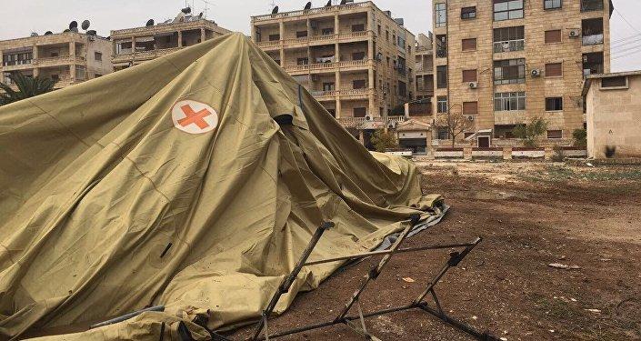 Apšaudīts Krievijas Aizsardzības ministrijas mobilais hospitālis Alepo