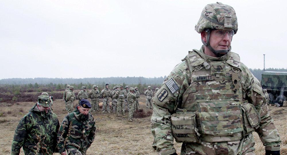 NATO militārās macības Ādažu poligonā.
