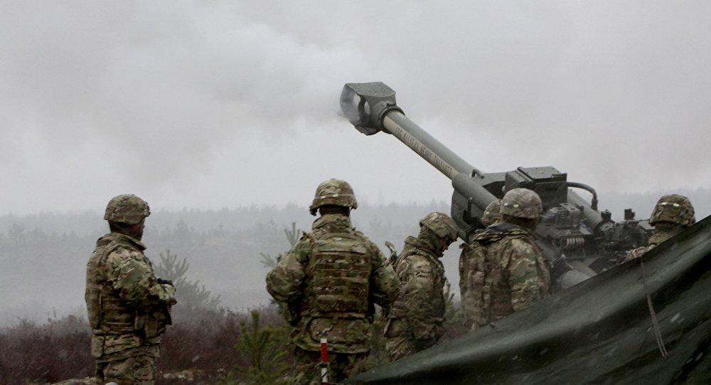 NATO mācības Operation Summer Shield Ādažu poligonā. Foto no arhīva.