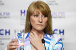 Светлана Журова на пресс-конференции, посвященной запрету участия российских легкоатлетов на Олимпиаде