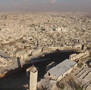 Alepo vēsturiskais centrs pēc atbrīvošanas no kaujiniekiem. Drona uzņēmumi