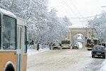 Город Калуга зимой