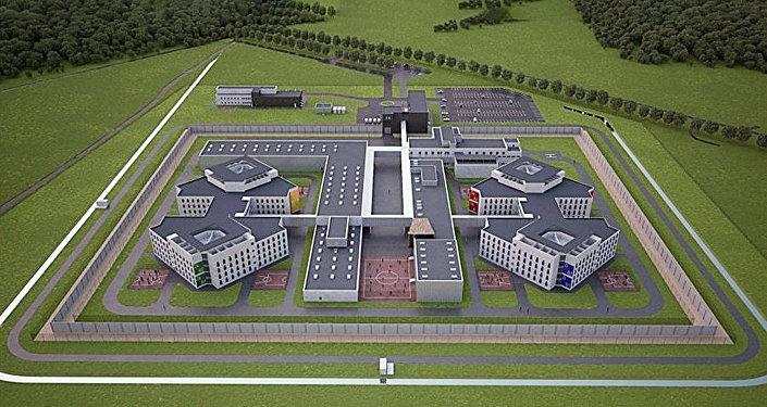 Макет новой тюрьмы в Лиепае