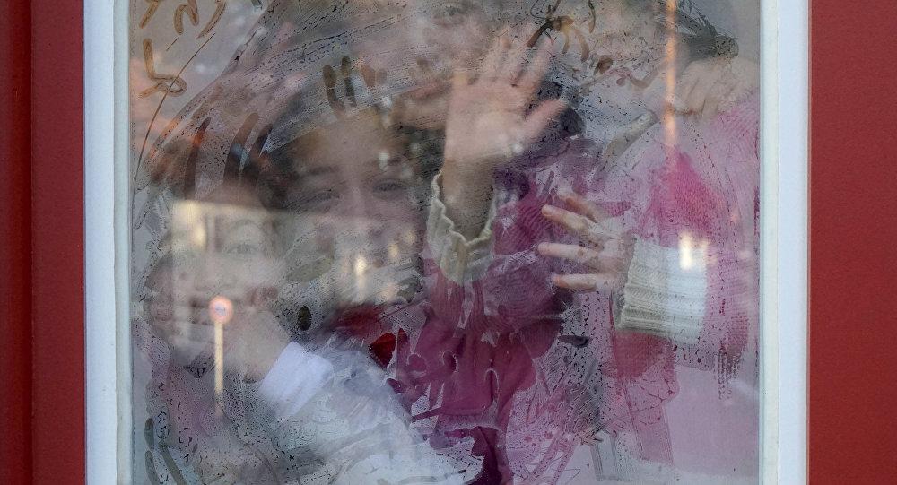 Bēgļu bērni vācu skolā. Foto no arhīva.