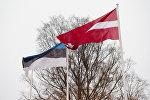 Флаги Латвии и Эстонии