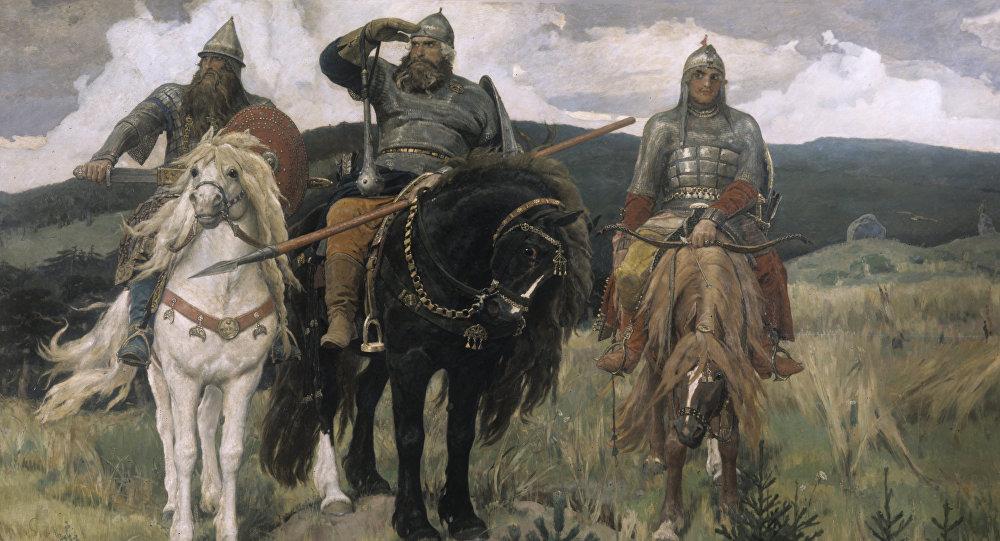 V.Vasņecova gleznas Trīs spēkavīri reprodukcija