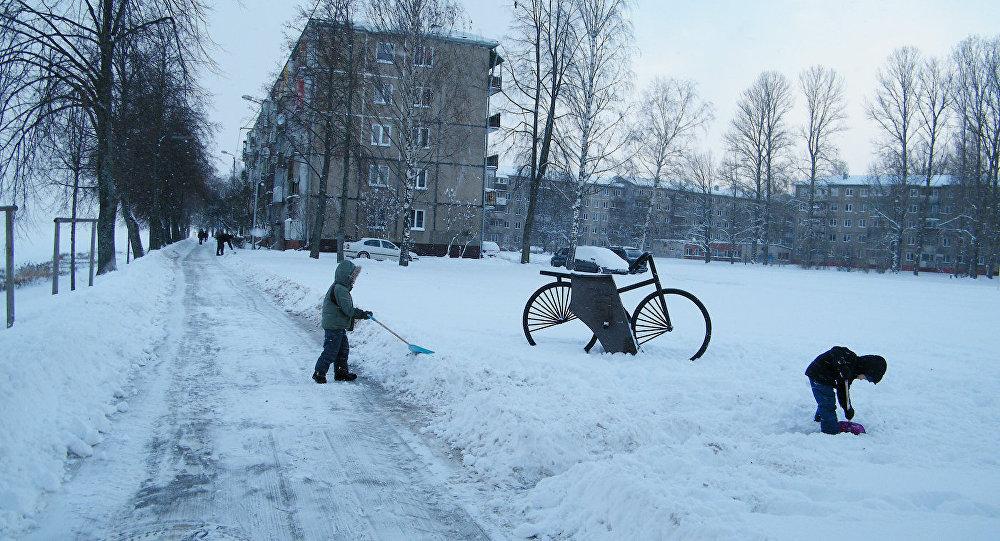 Bērni Rīgā. Foto no arhīva