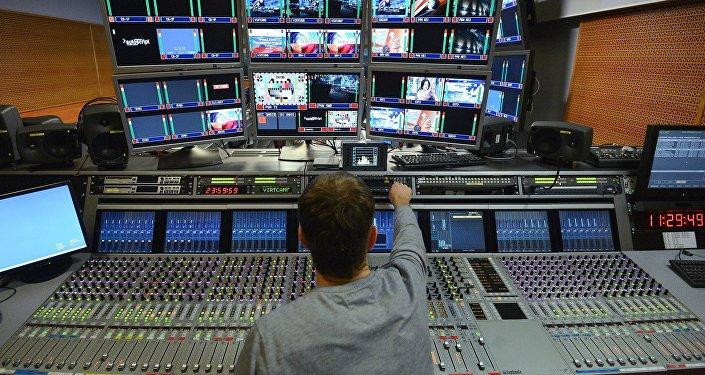 Televīzijas centra darbība. Foto no arhīva