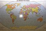 Архивное фото политической карты мира