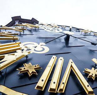 Doma baznīcas pulkstenis. Foto no arhīva