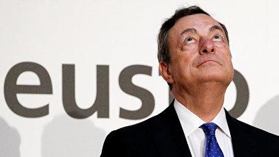 ECB prezidents Mario Dragi
