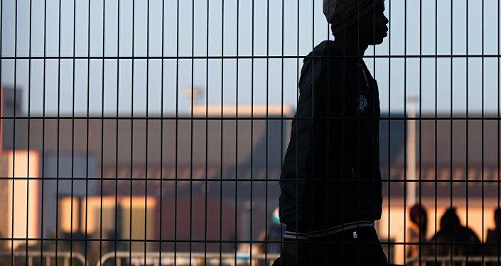 Беженец в Европе, архивное фото