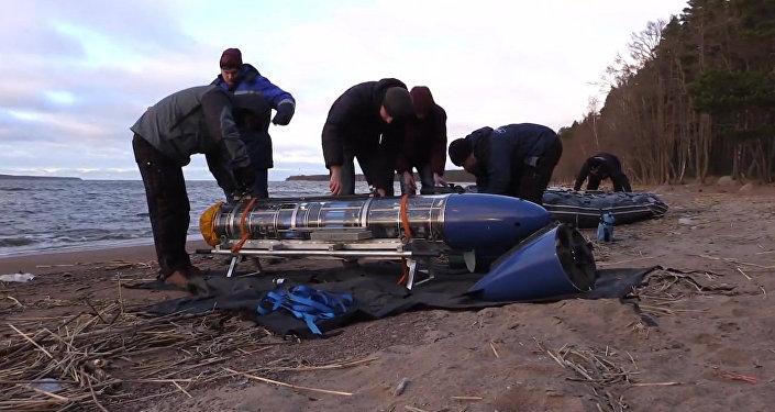 Испытания подводного робота-планера в Балтийском море