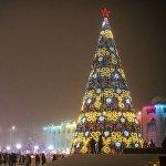 Новогодняя иллюминация в Бишкеке