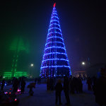 Новогодняя иллюминация в Грозном