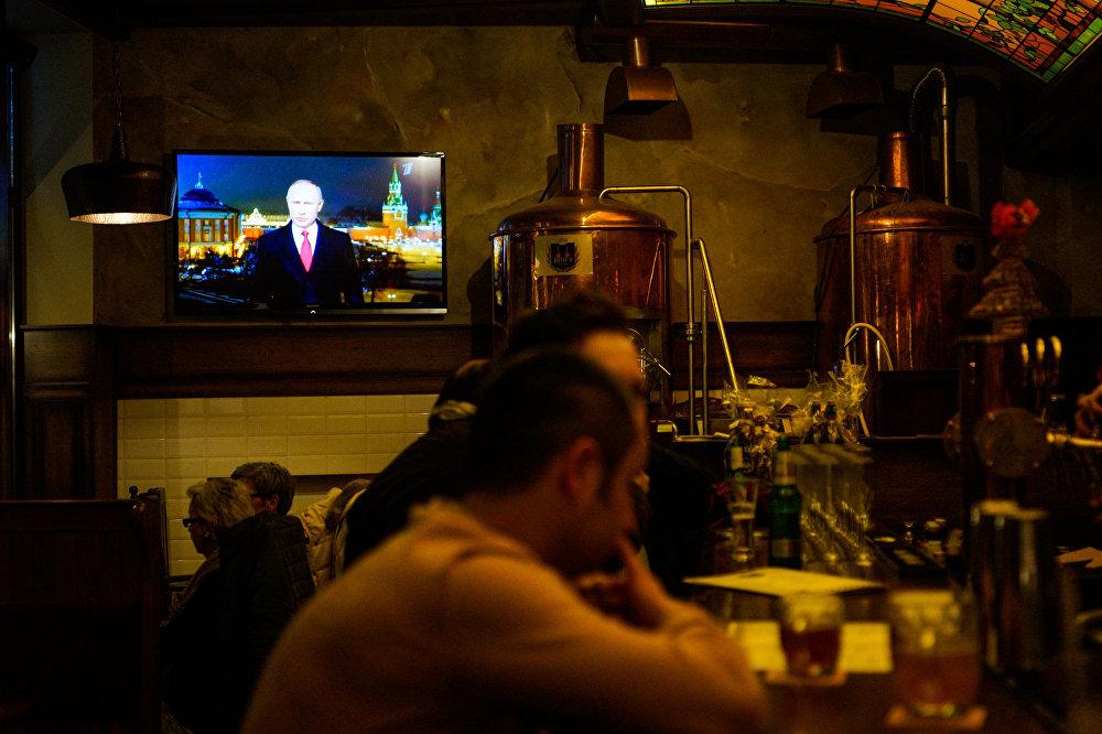Krievijas prezidenta Vladimira Putina Jaungada uzruna Rīgas restorānā