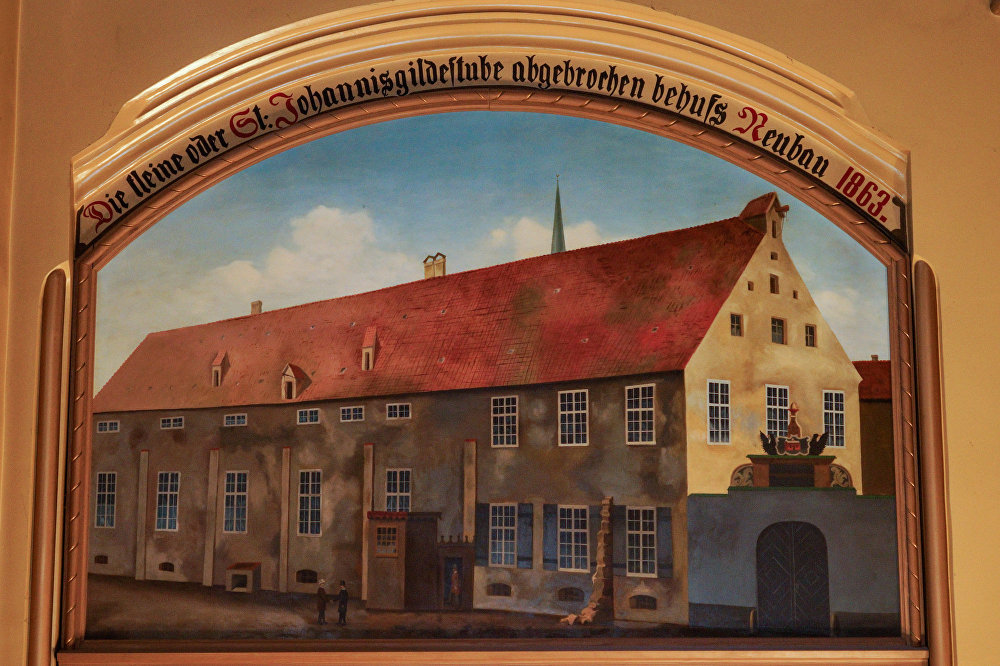 Mazās ģildes vecas ēkas attēls