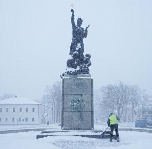 Rēzeknes simbols Latgales Māra - piemineklis Latgales atbrīvotājiem