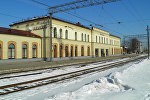 Железнодорожная станция Елгава, архивное фото