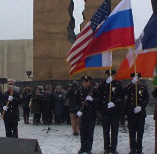 Amerikāņi godina Tu-154 katastrofas upuru piemiņu. Skan Krievijas himna