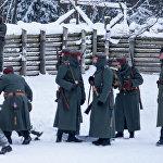Vācu armijas karavīri gatavojas aizsargāt pozīcijas