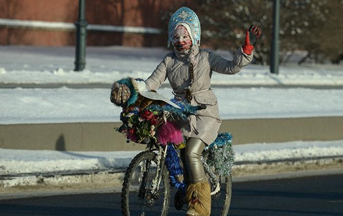 Otrā ziemas veloparāde Maskavā