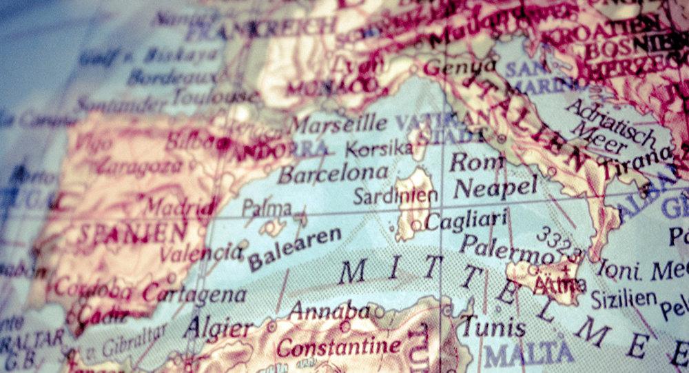 Европейские страны на карте, архивное фото