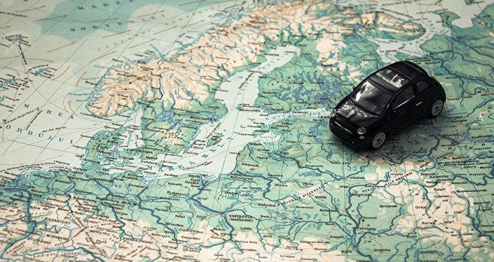 Европа на карте