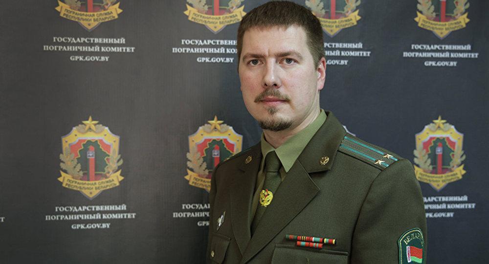 Зместитель пресс-секретаря Государственного пограничного комитета Белоруссии Антон Бычковский