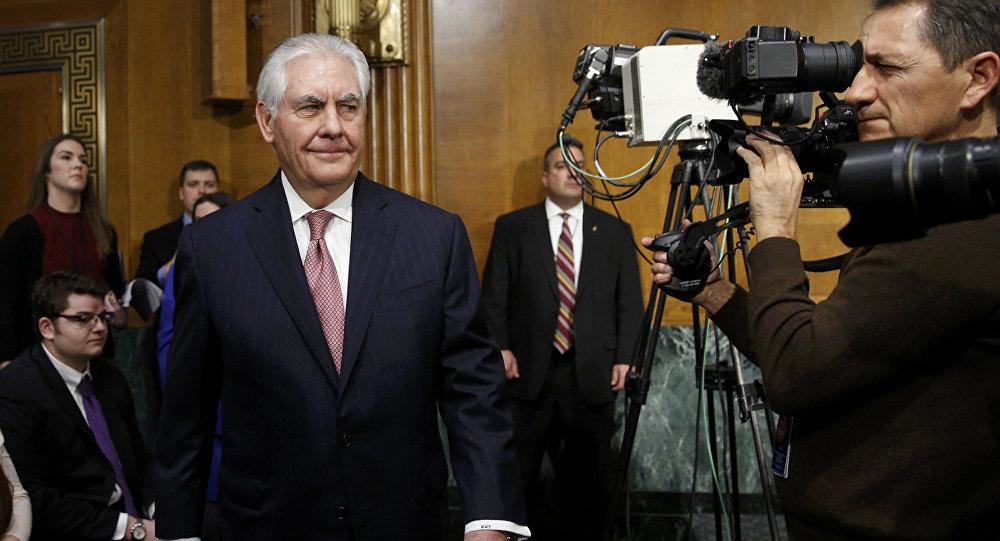 Рекс Тиллерсон в Сенатском Комитете по иностранным делам в Вашингтоне