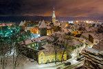 Sniega klātā Tallina vakarpusē