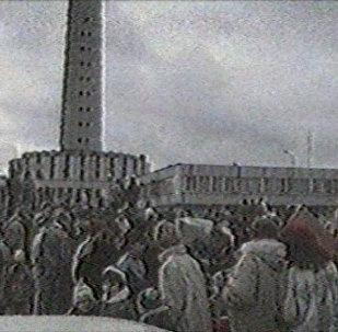 Uzbrukums televīzijas tornim Viļņā: 1991. gada ieraksts
