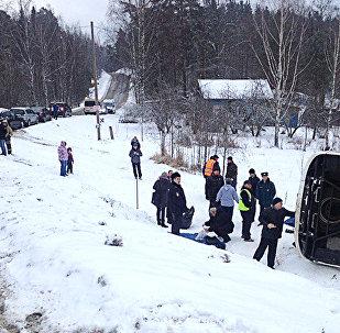 Авария автобуса в Карелии