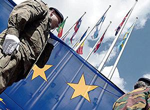Eirokorpusa vienības karavīri. Foto no arhīva.