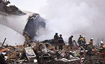 Liecinieki un upuri pastāstījuši par lidmašīnas avāriju pie Biškekas