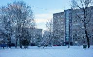 Многоэтажки рижского района Засулаукс на улице Грегора