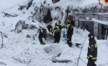 Glābšanas operācija Rigopiano in Farindola viesnīcā