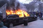 Donalda Trampa inaugurāciju pavadīja protesta akcijas Vašingtonas ielās