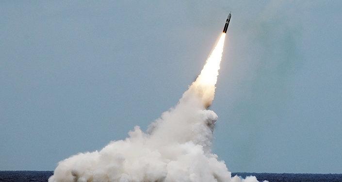 Баллистическая ракета Трайдент II D5, архивное фото