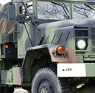 Американский военный грузовик. Архивное фото