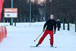 Лыжная трасса в Парке Победы, архивное фото