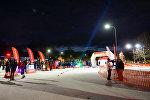 Зона старта и финиша на трассе в Парке Победы