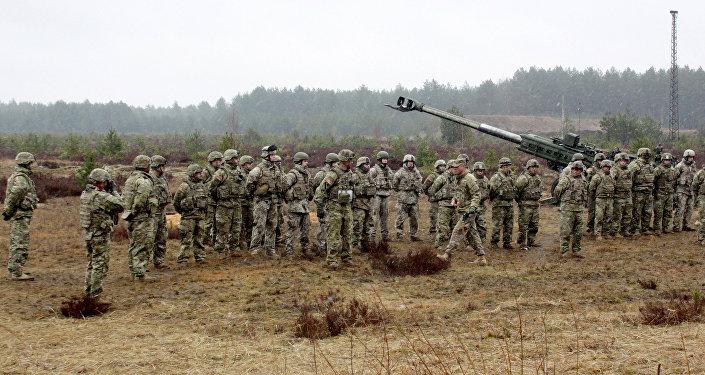 Военные учения НАТО на полигоне Адажи в Латвии. Архивное фото