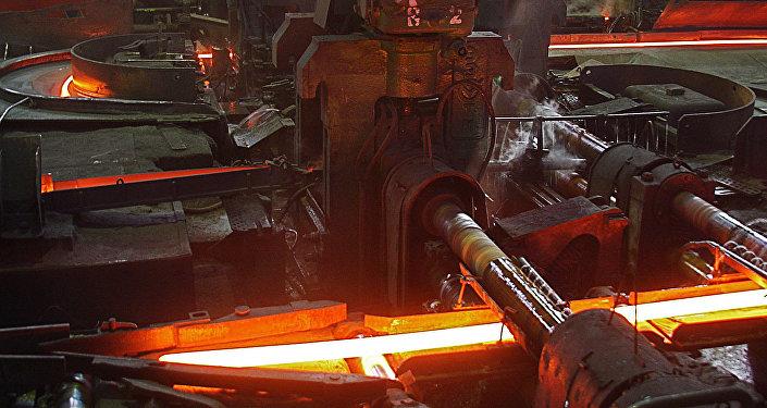 Liepājas Metalurgs cehā. Foto no arhīva
