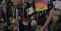 Londonieši protestē pret Trampa migrācijas politiku