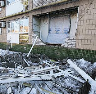 Apšaudes sekas Doņeckā