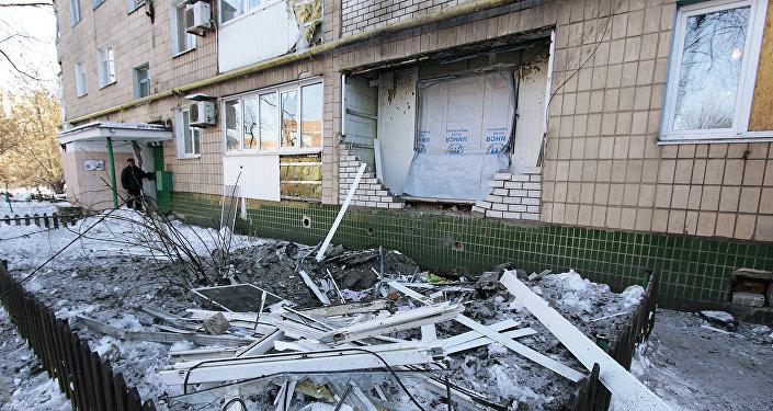 Последствия обстрелов в Донецкой области, архивное фото