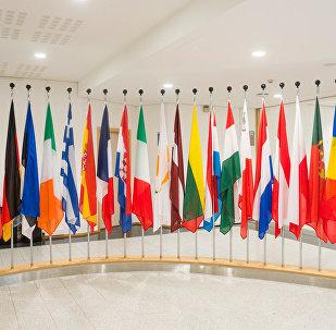 Eiropas Savienības dalībvalstu karogi. Foto no arhīva