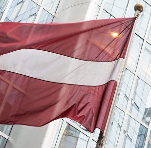 Latvijas karogs pie Eiropas Parlamenta