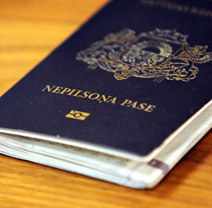Nepilsoņa pase. Foto no arhīva